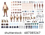 young guy character constructor.... | Shutterstock .eps vector #687385267
