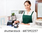 owner credit card is used to... | Shutterstock . vector #687392257