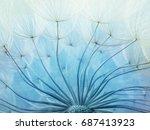 abstract macro photo of... | Shutterstock . vector #687413923