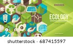 environmental protection ... | Shutterstock .eps vector #687415597