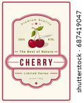 colorful cherry packaging logo... | Shutterstock .eps vector #687419047