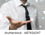 network online | Shutterstock . vector #687426247
