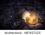 huge stack of physical... | Shutterstock . vector #687427123