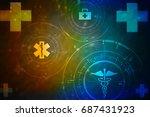 2d medical structure background | Shutterstock . vector #687431923
