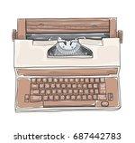 Brown Vintage Electric...