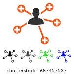patient connections flat vector ... | Shutterstock .eps vector #687457537