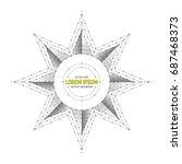 vector geometric symbol art... | Shutterstock .eps vector #687468373