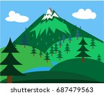 landscape illustration with...