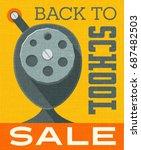back to school sale banner... | Shutterstock .eps vector #687482503