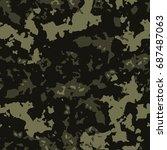 vector seamless pattern... | Shutterstock .eps vector #687487063