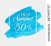 hot summer sale 50  off sign... | Shutterstock .eps vector #687495757
