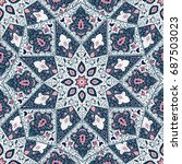 islamic floral pattern  in... | Shutterstock .eps vector #687503023