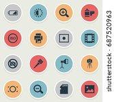 vector illustration set of... | Shutterstock .eps vector #687520963