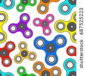 seamless pattern with bright... | Shutterstock .eps vector #687525223