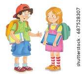 back to school. cute... | Shutterstock . vector #687528307