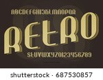 vintage alphabet letters and... | Shutterstock .eps vector #687530857