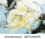 abstract hand painted... | Shutterstock . vector #687533443