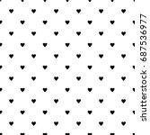 geometric grid seamless pattern ... | Shutterstock .eps vector #687536977