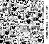 seamless pattern   love | Shutterstock .eps vector #68754484