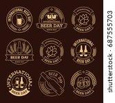 international beer day  beer... | Shutterstock .eps vector #687555703
