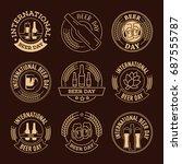 international beer day  beer... | Shutterstock .eps vector #687555787