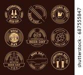 international beer day  beer... | Shutterstock .eps vector #687555847