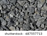 stone texture  crushed stone ... | Shutterstock . vector #687557713