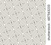 vector seamless pattern. modern ... | Shutterstock .eps vector #687563233
