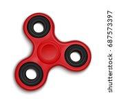 fidget spinner. hand rotation... | Shutterstock .eps vector #687573397