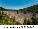 hungry horse dam in montana  | Shutterstock . vector #687576163