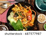 thai style coconut and... | Shutterstock . vector #687577987