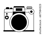analog photographic camera icon ... | Shutterstock .eps vector #687584323