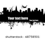 Grunge Urban Poster On Black...