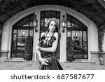 beautiful girl   Shutterstock . vector #687587677