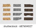 vector set of realistic... | Shutterstock .eps vector #687604027