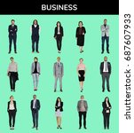 business people lifestyle... | Shutterstock . vector #687607933