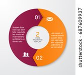 circle arrows for infographics. ... | Shutterstock .eps vector #687609937
