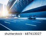 modern architecture with... | Shutterstock . vector #687613027