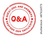 grunge red q a  questions and... | Shutterstock .eps vector #687616573