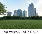 city downtown district with... | Shutterstock . vector #687617467