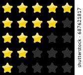 rating stars panel. customer...   Shutterstock . vector #687621817