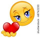 emoticon giving heart | Shutterstock .eps vector #68762233