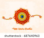 happy raksha bandhan  beautiful ... | Shutterstock .eps vector #687640963