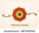happy raksha bandhan  beautiful ... | Shutterstock .eps vector #687640963