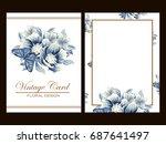 vintage delicate invitation... | Shutterstock . vector #687641497