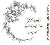 romantic invitation. wedding ... | Shutterstock .eps vector #687643447