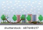 skate park concept illustration....   Shutterstock . vector #687648157