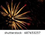 fireworks  salute close up on a ... | Shutterstock . vector #687653257