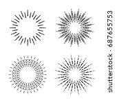 graphic fireworks  vector | Shutterstock .eps vector #687655753