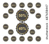 percentage label sticker | Shutterstock .eps vector #687658447